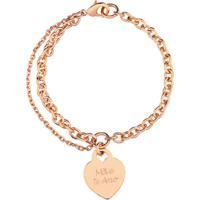 Pulseira Coraã§Ã£O Com Nome Personalizado Banhado A Ouro Rosã© - Dourado - Feminino - Dafiti