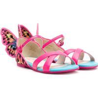 Sophia Webster Mini Sandália Com Detalhe De Borboleta - Rosa