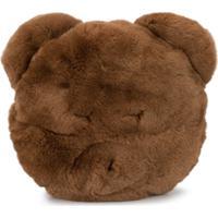 Yves Salomon Enfant Clutch Em Forma De Urso - Marrom
