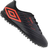 Chuteira Society Umbro Speed Iv Tf - Adulto - Preto/Cinza