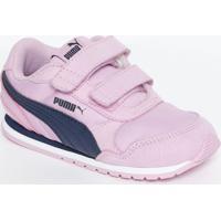 Tênis St Runner V2 Nl V Kinder-Fit® - Rosa Claro & Azul Puma