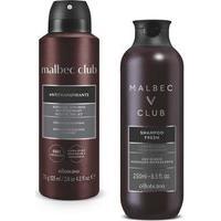 Combo Malbec Club : Shampoo 250Ml + Desodorante Aerosol 75G