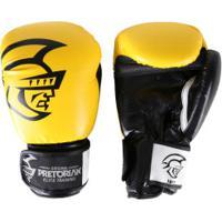 Luvas De Boxe Pretorian Elite Training - 16 Oz - Adulto - Amarelo Preto ab4f4a71f3831