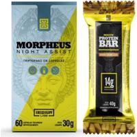 Kit Triptofano Morpheus 60 Cáps + 1 Barra De Proteína 40G Iridium Labs - Unissex