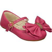 Sapato Boneca Em Couro Com Laã§O- Pinkprints Kids