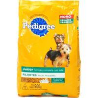 Ração Para Cães Pedigree Junior Filhotes Raças Pequenas Com 900G