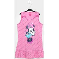 Camisola Infantil Disney Minnie Poá Regata - Feminino
