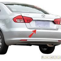 Friso Aplique Do Capô Traseiro - Sport Inox - Jac J5 Sedan 2010 Em Diante - Autoadesivo - Resinado - Aço Escovado - Cada (Unidade) - Jm003Fsie