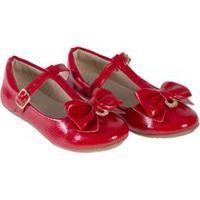 Sapato Infantil Verniz Show Vermelho - Baby Passo - 25