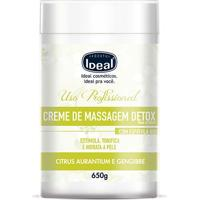 Creme De Massagem Corporal Detox Ideal 650G