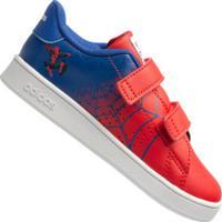 Tênis Adidas Advantage Homem Aranha - Infantil - Vermelho/Azul