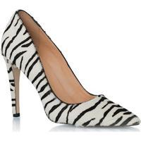 Scarpin Em Pelo Zebra Bico Fino
