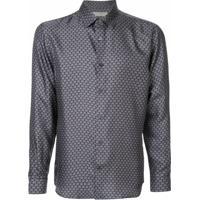 Gieves & Hawkes Camisa Com Coroa Bordada - Azul