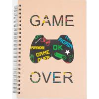 Caderno Estampa Localizada Game Over