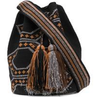 Folkloore Colombian Wayuu Large Mochila - Preto