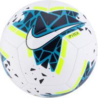 Bola De Futebol De Campo Nike Pitch - Branco/Azul Esc