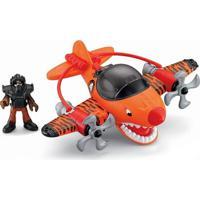Avião Tubarão Tigre - Imaginext Sky Racers - Fisher-Price - Masculino-Incolor