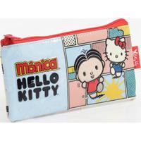 Estojo Escolar Infantil Estampa Hello Kitty Monica Xeryus