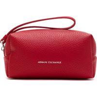Armani Exchange Necessaire Com Logo - Vermelho