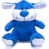Bicho De Pelúcia Unik Toys 17Cm Cachorro Azul