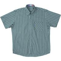 637677ee0c ... Camisa Manga Curta Xadrez Rodeo Western Masculina - Masculino-Verde