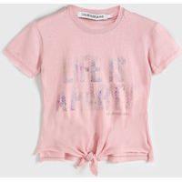 Blusa Calvin Klein Kids Infantil Lettering Rosa