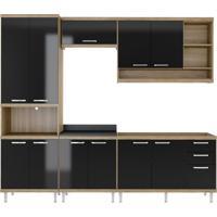 Cozinha Compacta La Plata 11 Pt 3 Gv Argila E Preto