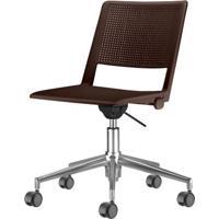 Cadeira Up Assento Marrom Base Rodizio Piramidal Em Aluminio - 54335 - Sun House