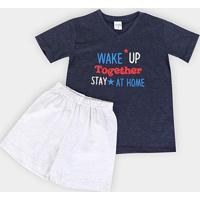 Pijama Infantil Candy Kids Wake Up Masculino - Masculino