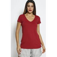 Blusa Com Bordado- Vermelha & Pretaaleatory