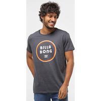 Camiseta Billabong Gold Coast Masculina - Masculino-Cinza