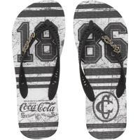 Chinelo Coca Cola Shoes 1886 Preto