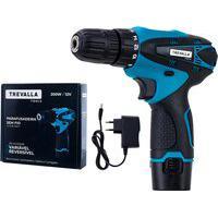 Furadeira Parafusadeira À Bateria De Lítio 12V Trevalla Tl-Fme-P02-7 Azul