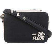 Bolsa Ellus 2Nd Floor Mini Bag Aplique Metal Feminina - Feminino-Preto