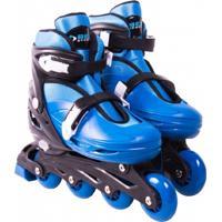 Patins Belfix Roller In-Line Radical Ajustável Azul