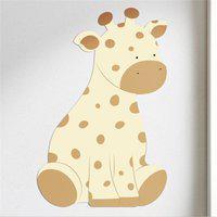 Adesivo Parede Amiguinha Girafa Gráo De Gente Amarelo