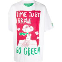 Benetton Oversized Peanuts T-Shirt - Branco