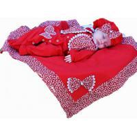 Saída De Maternidade 5 Peças Boina Vermelho - Tricae