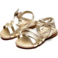 Sandália Infantil Klin Suami Baby - Feminino-Dourado