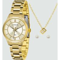 Kit Relógio Feminino Lince Lrgh072L Ku33C1Kx