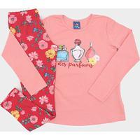 Conjunto Infantil Pipa Perfumes Feminino - Feminino-Pink