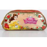 Estojo Escolar Infantil Estampa Princesa Bela Disney