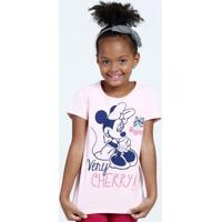 Blusa Infantil Estampa Minnie Disney