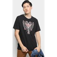 Camiseta T-Shirt Cavalera Águia Masculino - Masculino-Preto