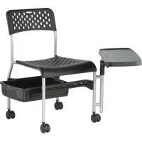 Ciranda Cadeira De Manicure Canada Cinza Preto Dompel 5001-1