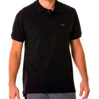 Camisa Polo Mizuno Rory 2 Masculina - Masculino-Preto