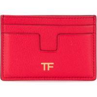 Tom Ford T Logo Plaque Cardholder - Vermelho