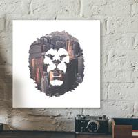 Placa Decorativa - Lion Zion
