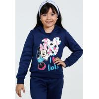 Blusa Infantil Moletom Minnie Disney