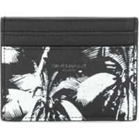 Saint Laurent Palm Tree Card Holder - Preto